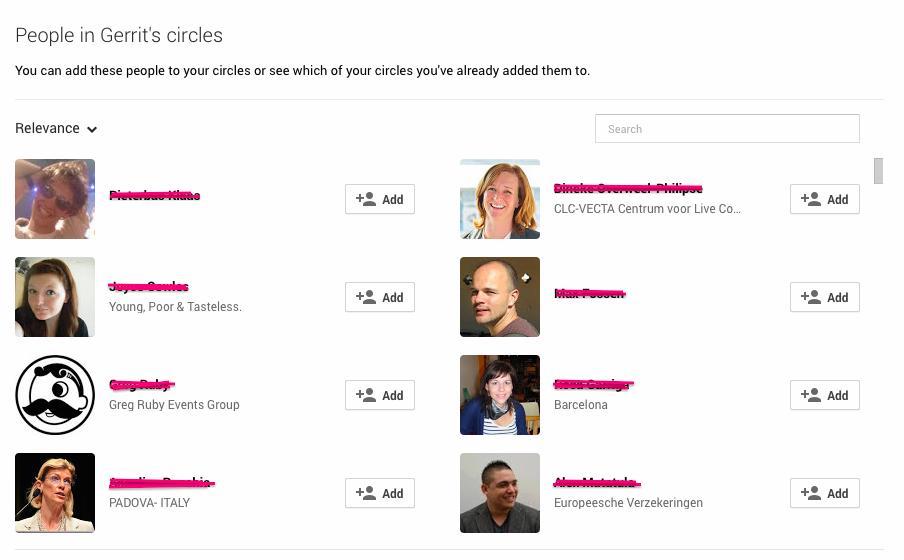 Circles Google+ congres