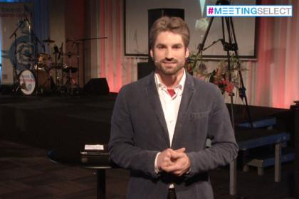 Presentator uitzending Meetingselect Experience 2014 Rotterdam