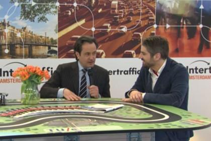 Presentator interactieve online uitzending Intertraffic Live vanuit Amsterdam
