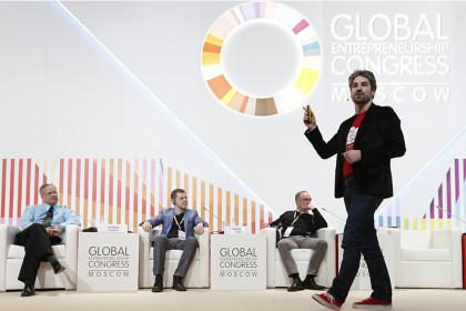Spreker op Global Entrepreneurship Congress 2014 Moskou