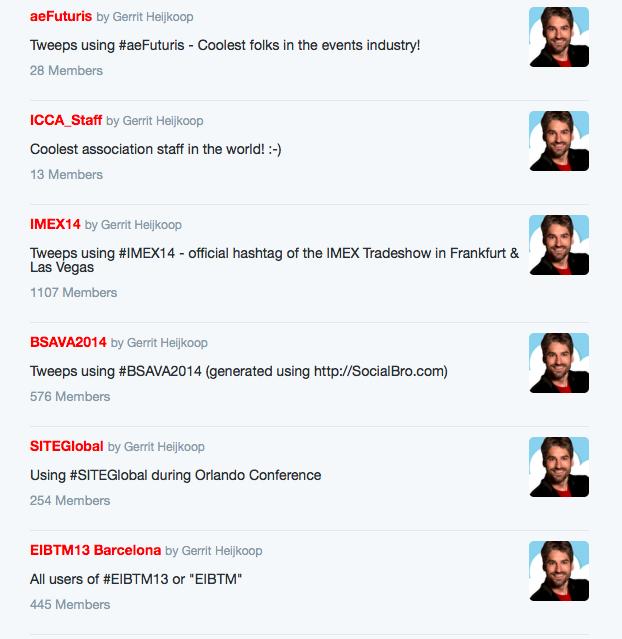 Twitter lijsten Gerrit Heijkoop