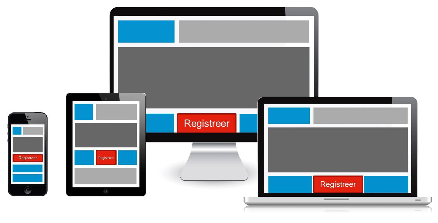 website schaalbaar en responsive